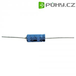 Axiální kondenzátor elektrolytický, 22 µF, 16 V, 20 %, 13 x 6 mm