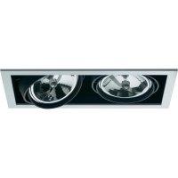 Halogenové vestavné světlo Downlight Croux AR111, 2x 100 W, G5.3, černá/bílá