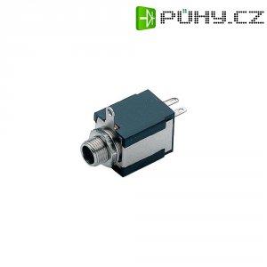 Jack konektor 6,35 mm mono BKL Electronic 1109032, zásuvka vestavná vertikální, 2pól., černá