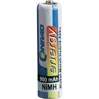 Akumulátor Conrad energy, NiMH , AAA, 900 mAh