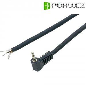 Jack konektor 2,5 mm mono BKL Electronic, zástrčka úhlová, 2pól, černá