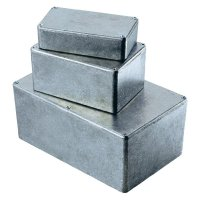 Tlakem lité hliníkové pouzdro Hammond Electronics, (d x š x v) 120 x 120 x 59 mm, hliníková (1590WU)