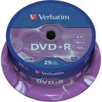 Verbatim DVD+R 4,7GB 16X 25 kscake box