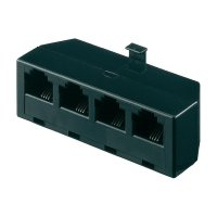 ISDN adaptér Wentronic, 1x zástrčka RJ45, 4x zásuvka RJ45, 8/4, černá