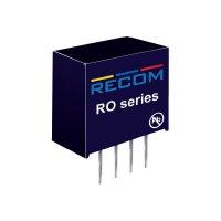 DC/DC měnič Recom RO-1212S/P, vstup 12 V/DC, výstup 12 V/DC, 83 mA, 1 W