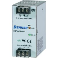 Napájecí zdroj na DIN lištu Dehner Elektronik DRP045D-12FTN, 3,75 A, 12 V/DC
