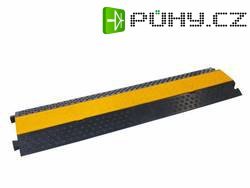 Kabelový můstek Eurolite 2 Kanäle 1000x250mm, černá/oranžová