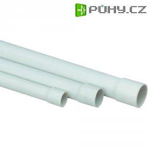 Izolační pevná trubka pro instalaci vedení Heidemann PVC EN16, 13006, 2 m, šedá