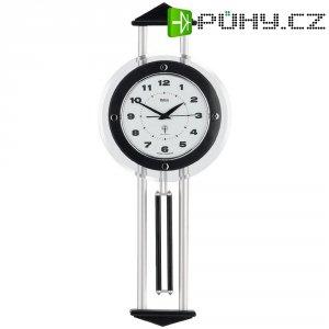 DCF kyvadlové hodiny - pendlovky, 24,5 x 60,5 cm, dřevo, černá/stříbrná