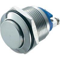 Tlačítko antivandal bez aretace TRU COMPONENTS GQ 19H-S, 48 V/DC, 2 A, nerezová ocel, 1x vyp/(zap)