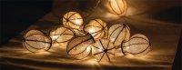 Řetěz dekorační 10 LED 1.5m žárovky HQLEDSLBULB