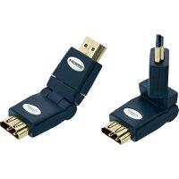Otočná úhlová, redukce HDMI zásuvka ⇒ vidlice, Inakustik