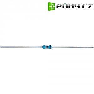 Metalizovaný rezistor, 75 Ω , 1 %, 0207, axiální vývody, 0,25 W, 1 %, 100 ks