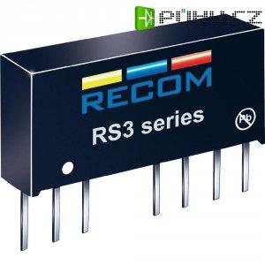 DC/DC měnič Recom RS3-1212S (10004205), vstup 9 - 18 V/DC, výstup 12 V/DC, 250 mA, 3 W