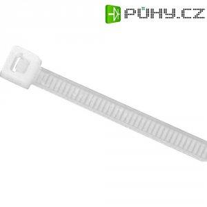 Stahovací pásky HellermannTyton UB200C-N-PA66-NA-C1, 200 x 4,6 mm, 100 ks, transparentní