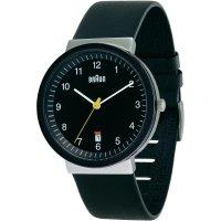 Ručičkové náramkové hodinky Braun Classic, 66543, kožený pásek, černá