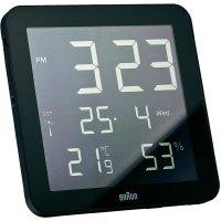 Digitální nástěnné DCF hodiny Braun, černá