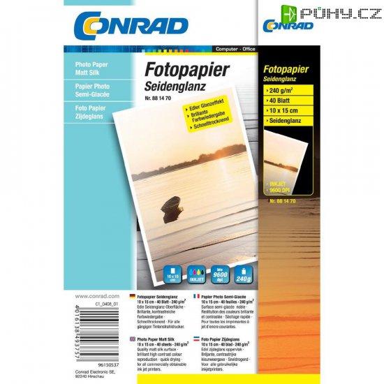 Conrad fotopapír 10X15, 240 g,40 listu - Kliknutím na obrázek zavřete