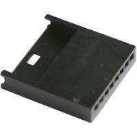 Pouzdro MOD II 6pól. TE Connectivity 280630, kolíková lišta přímá, 2,54 mm, černé