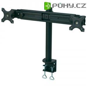Držák pro 2 monitory, stolní, černý