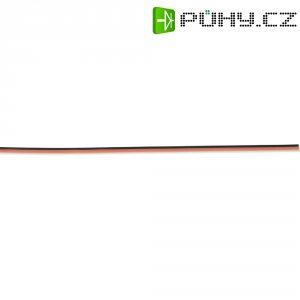 Plochý kabel k servu 5 m, Ø 3 x 0,14, černá/červená/bílá