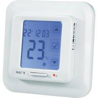 Vestavný pokojový termostat s denním programem, externí čidlo, 15 až 30 °C, bílá