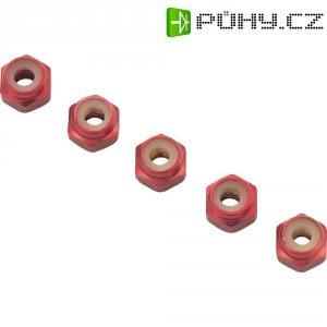 Hliníková samojistící matice M2, 10 ks, červená