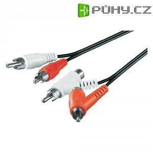 Připojovací kabel, 2xcinch zástr./2xcinch zástr., 2xcinch zásuvka, černý, 1,5 m