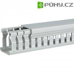 Elektroinstalační lišta Hager, BA6 60025, 31x64 mm, 2 m, šedá
