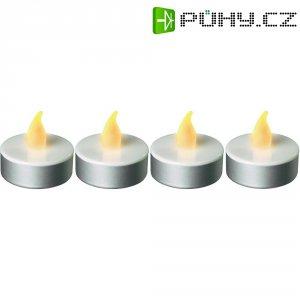 Čajová LED svíčka, PL2008, 4 ks, jantarová