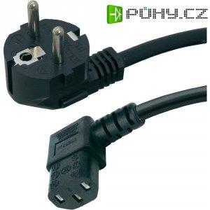 Síťový kabel s IEC zásuvkou HAWA 1008236, 2 m, černá