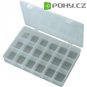 Box s přihrádkami, 278 x 192 x 43 mm, transparentní