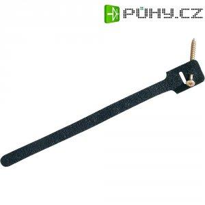 Stahovací páska se suchým zipem Fastech 894-008, 225 x 13 mm, černá, 10 ks