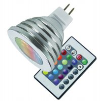 Žárovka LED MR16/12VAC 3W RGB color + dálk.ovl.