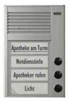 Domácí telefon Auerswald TFS-Dialog 203, 90636, 3 rodiny, stříbrná