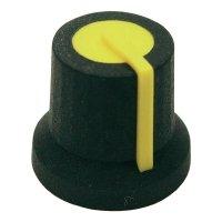 Otočný knoflík Cliff CL170826MBR, pro sérii K87MAR , 6 mm, hladký, žlutá
