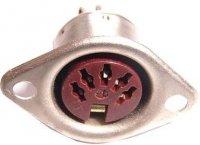 DIN zdířka TESLA 6AF28214 5pol.panelová kovová