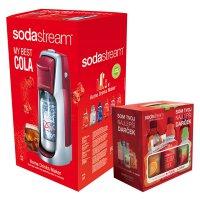 Sodastream sada JET RED/SLV COLA + dárek 6v1