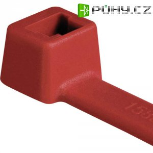 Stahovací pásek HellermannTyton T80L-N66-RD-C1, 390 mm x 4,6 mm, 100 ks, červená