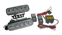 Světla pro denní svícení LED SJ-286E obdélníková, homologovaná