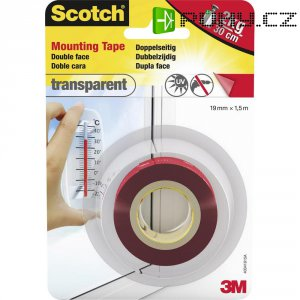 Oboustraná lepicí páska pro vnitřní prostory (19 mm x 1,5m) 3M