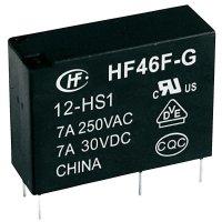 Relé do DPS Hongfa HF46F-G/005-HS1, 5 V/DC, 10 A, 1 spínací kontakt, 1 ks