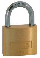 Visací zámek na klíč Kasp K12030, 30 mm, zlatožlutá