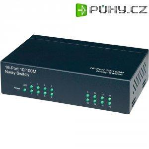 Switch N-Way, 16-portový, černý