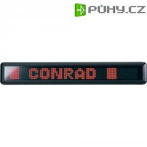 Informační LED panel s pohyblivým textem, s dálkovým ovládáním, červená