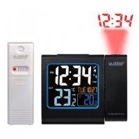 Digitální budík s projekcí a měřením vniřní a vnější teploty WT 552BK