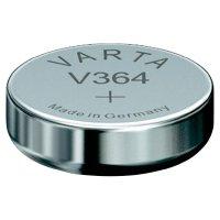 Knoflíková baterie 364, Varta SR60, na bázi oxidu stříbra, 364101401
