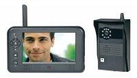 Bezdrátový domácí videotelefon, 1 rodina, černá