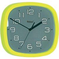 Analogové nástěnné quarz hodiny, Ø 30 cm, žlutá/šedá