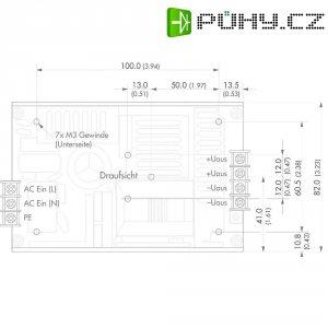 Kryt pro vestavný napájecí zdroj TracoPower TXH 120